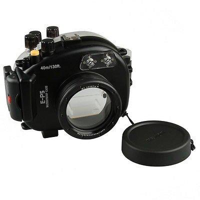 Meikon 40 M 130 ft Underwater Waterproofカメラのハウジングケースfor Olympusペンe-p5カメラレンズ   B07CRF7SLT