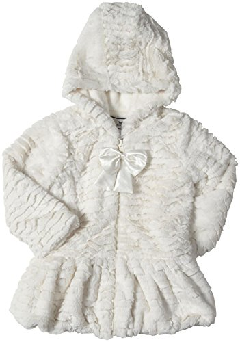 Widgeon Little Girls' Hooded Big Bow Coat (Toddler/Kid) - Wave Natural - 4