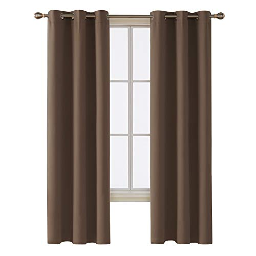 - Deconovo Room Darkening Thermal Insulated Blackout Grommet Window Curtain for Bedroom, Brown,42x84-inch,1 Panel