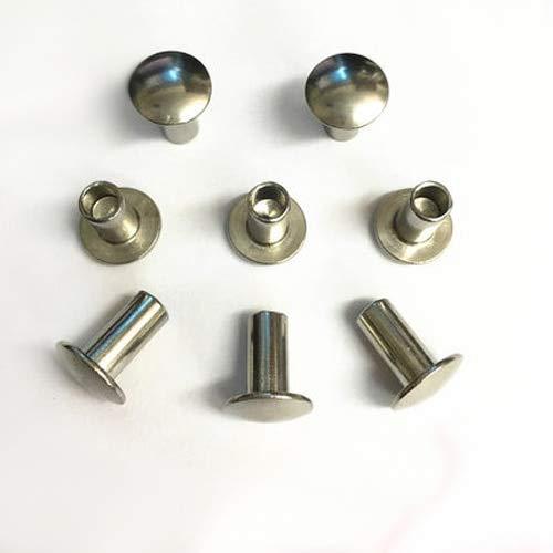 Ochoos 30Pcs M4 Half Hollow Rivets Round/Truss/Mushroom Head Rivet 304 Stainless Steel 4-20mm Length Button Head semi-Tubular Rivet - (Dimensions: M4 x 12mm) by Ochoos