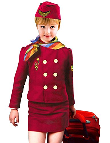 THEE Flight Attendant Costume for Halloween Children -