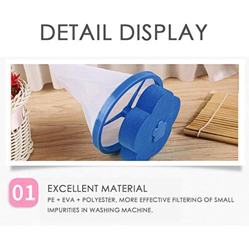 Washing Machine Lint Filter Bag,Mesh Bag Hair Filter Net,Reusable Washing Machine Filter(D) by MONISE (Image #1)