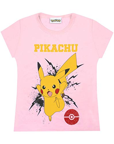 Pokemon Pikachu Bolt Girls T-Shirt (7-8 Years) Pink -