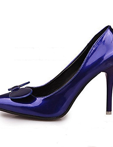 GGX/Damen Schuhe Patent Leder Pumpe/spitz Toe Heels Büro & Karriere/Party & Abend/Kleid Stiletto Ferse 7 Farben blue-us8 / eu39 / uk6 / cn39