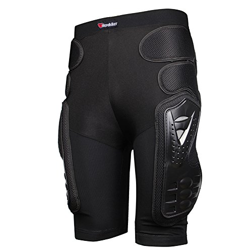 (HEROBIKER Protective Armor Pants, Heavy Duty Body Protective Shorts Motorcycle Bicycle Ski Armour Pants for Men & Women)