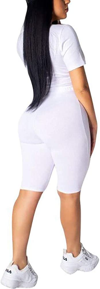 Skinny Pants Casual Short Sets Womens Summer Sequin Patchwork 2 Piece Set Short Sleeve Tie Front Kont Shirt Tops