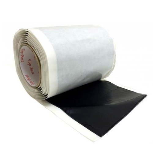 Bishop Tape Seal Mastic 6.5 x 10 FT Long Tacky Black Flexible Large Pitch Pad PV2665 Self Seal Tape Adhesive Insulating Weather-Proofing Moldable Reusable