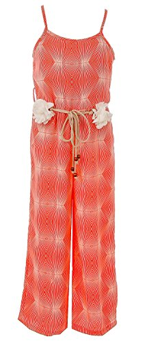 BNY Corner Big Girl Girls Jumpsuits Multi Pattern Romper Casual Summer Birthday Outfit Coral Geo 14 JKS 2127 by BNY Corner