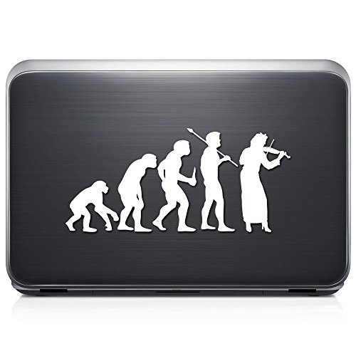 (Theory Of Evolution Viola Player Music PERMANENT Vinyl Decal Sticker For Laptop Tablet Helmet Windows Wall Decor Car Truck Motorcycle - Size (07 Inch / 18 Cm Wide) - Color)