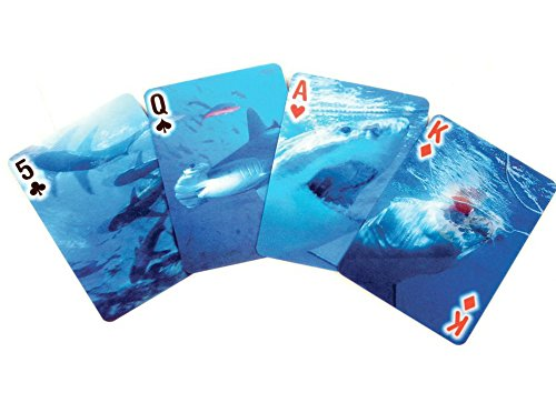 Kikkerland Lenticular 3-D Shark Poker-Size Playing Cards
