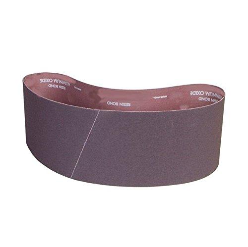 Norton Metalite R228 Benchstand Abrasive Belt, Cotton Backing, Aluminum Oxide, 6'' Width, 48'' Length, Grit 80 (Pack of 10)