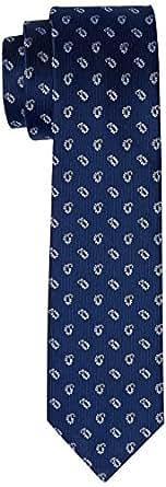 Van Heusen Men's Paisley Tie, Navy Paisley