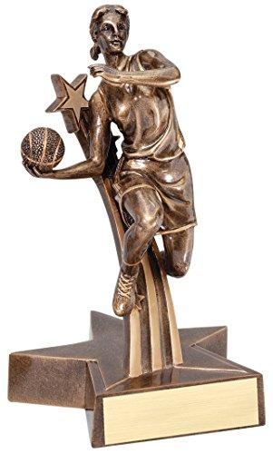 Female Basketball Gold Star Resin Trophy Award
