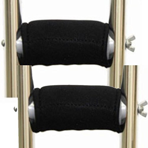Premium Gel Crutch Hand Grip Covers (Pair) - Softens the Pain of Using - Pad Crutch Hand Grip
