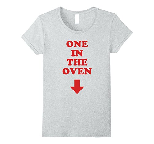 Oven Halloween Costumes (Womens One In The Oven Red Arrow Comedy Pregnancy Costume T Shirt Large Heather Grey)