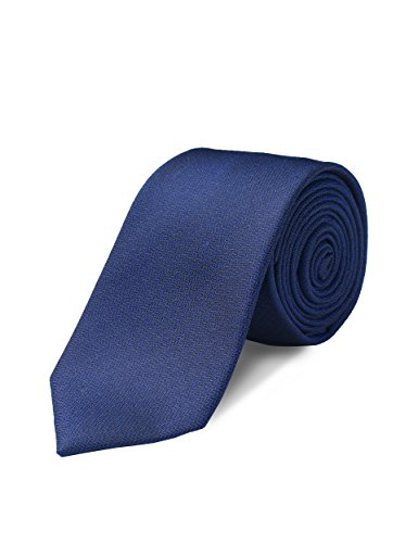 Origin Ties 100% Silk Textured Handmade Solid Herringbone Men's Skinny Tie 2.5