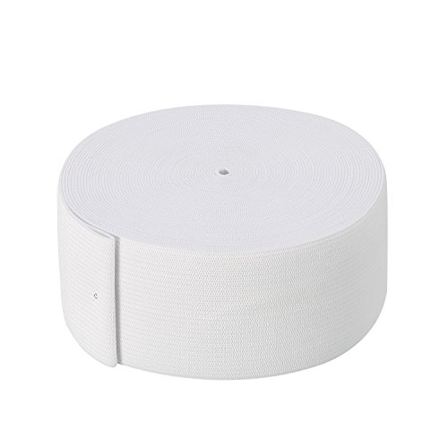 White Knit Elastic Spool (2 Inch x 11 Yard)