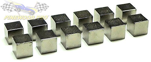 Pinewood Pro Derby Car Weights Tungsten Cubes 2oz Total Weight, Twelve Cubed Weights for Highest Speed to Make Fastest Derby Car (Best Weight For Pinewood Derby Car)