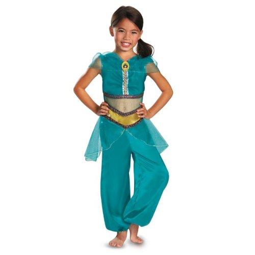 Disguise Disney Aladdin Jasmine Sparkle Classic Girls Costume, 3T-4T ()