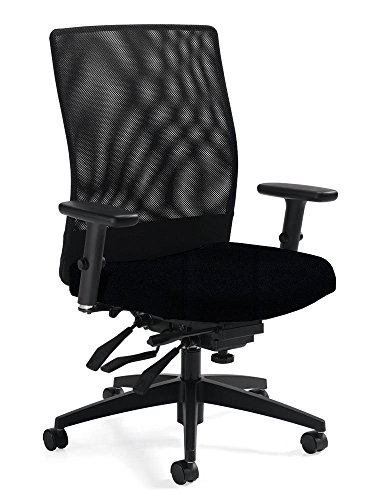 Mid Back Tilter Chair - Ergonomic Mesh Office Chair - Weev Mid-Back Multi-Tilter Executive Desk Chairs
