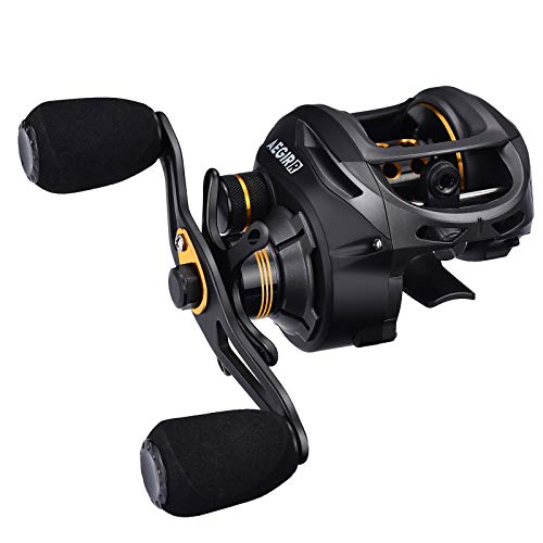 FISHINGSIR Baitcasting Fishing Reel 17.6LB Carbon Fiber Drag, 7.1:1 Baitcasters Low Profile Saltwater Baitcast Reels Right Hand
