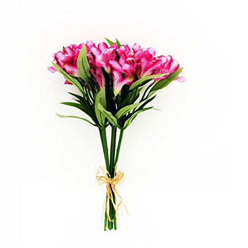 - FloristryWarehouse Artificial Alstroemeria Bundle Pink 13 Inches x 5 Stems