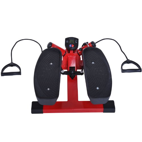 Soozier Aerobic Mini Twist Stepper w/ Resistance Bands - Red