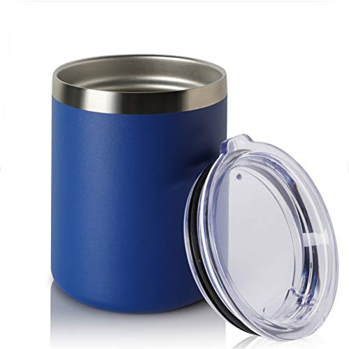 ONEB 12oz Double Wall Vacuum Insulated Travel Mug, Stainless Steel Tumbler with Lid, Durable Powder Coated Insulated Coffee Cup for Cold & Hot Drinks (Navy 1pack) ()