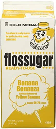 Gold Medal 3218 Banana Flossugar, 3.25 lb Carton Each