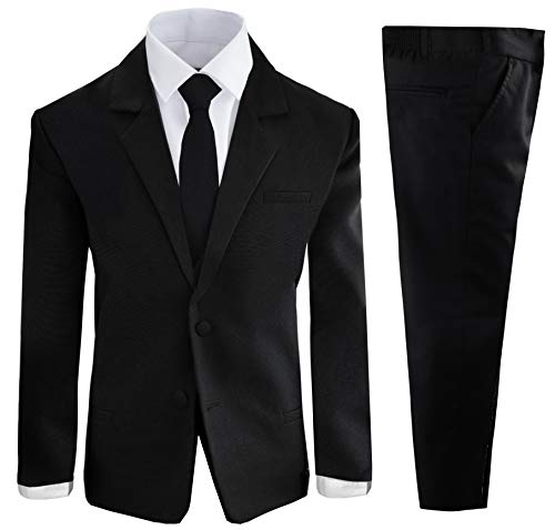 Boys Black Tuxedo Suit with Tie Young Boys Youth Size 7]()