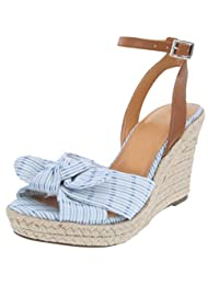 Nautica Women's Espadrille Mid Wedge Sandals with Fashion Buckle