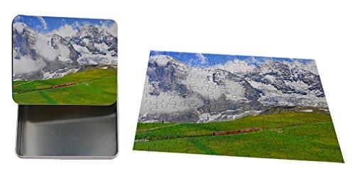 Cogwheel Train Of Jungfraujoch Station Metal Tin Trinket Box (4