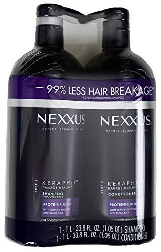 Nexxus Keraphix Keratin Protein Black Rice, Shampoo and Conditioner, 33.8 FL OZ