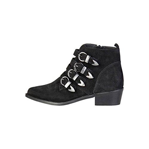 Pierre Cardin Women's 4114101 Real Leather Boots Heel 4.5 cm Black j6twvm