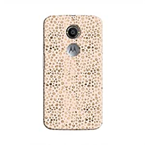 Cover It Up - Brown Pink Pebbles Mosaic Moto X2 Hard Case