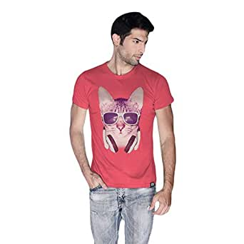 Cero Cool Cat Retro T-Shirt For Men - Xl, Pink