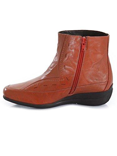 cuir bouts Pediconfort Rouge à Boots en carrés xwxHEOZ