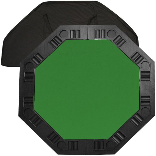 Trademark Poker 48-Inch 8-Player Octagonal Poker Tabletop (Green) by Trademark Global