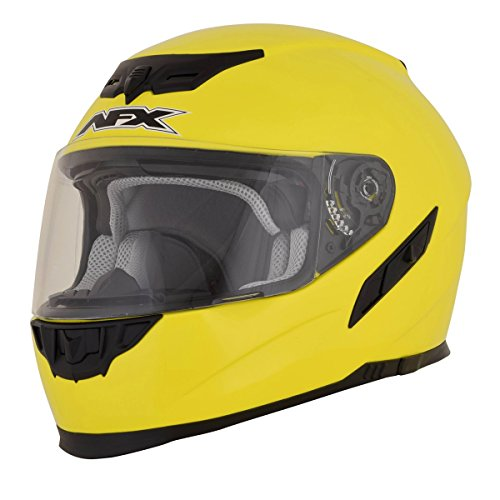 AFX 01019715 FX-105 Solid Helmet, Gender: Mens/Unisex, Helmet Type: Full-face Helmets, Helmet Category: Street, Distinct Name: Hi-Viz Yellow, Primary Color: Yellow, Size: Sm