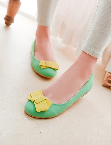 Casual de punta us5 eu36 uk3 5 talón cn35 Flats mujer de verde green zapatos 5 PDX redonda plano F7dqzzZ