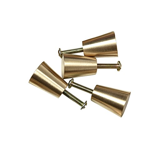 Circular Truncated Cone Shape Heavy Duty Solid Brass Cabinet Knobs Drawer Handle Dresser Pull set of - Cone Hardware