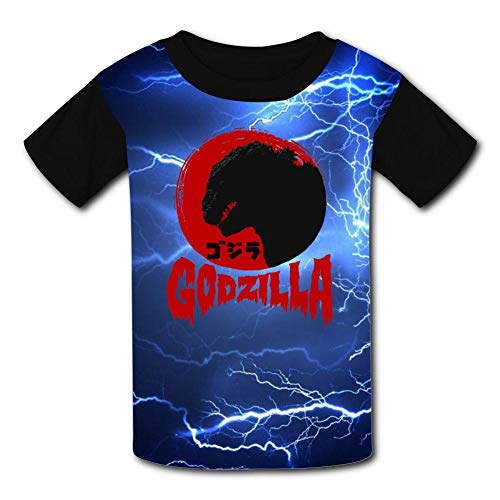 BEKAI Youth Summer Kids Short Sleeve Red G-od-Zill-a Head Logo Comfortable Printed T-Shirts Tees for Children Boys Girls ()