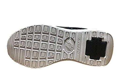 Heelys Force Skate Shoe (Big Kid/Women's) (5 B(M) US Women, Black hot pink white)