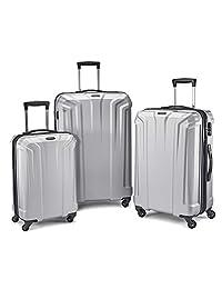 Samsonite Opto PC 3 Piece Luggage Set, Silver, Checked – Large (Model: 106581-1776)