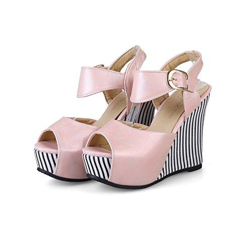 de 35 Mujer Boca 33 Moda de Gran Modelos de Rosado Plataforma Impermeable Pescado de Verano Color Slope Sandalias Sandalias Zapatos tacón de 45 tamaño de tamaño Mujer Hebilla 6pWCq