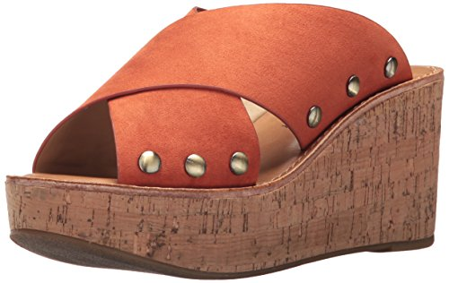 Chinese Laundry Women's Oahu Wedge Sandal Nutmeg Suede
