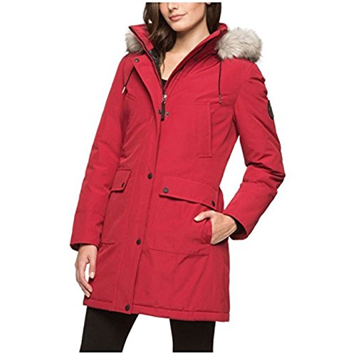 andrew-marc-ladies-hooded-snorkel-jacket-detachable-fur-lined-hood-red-small