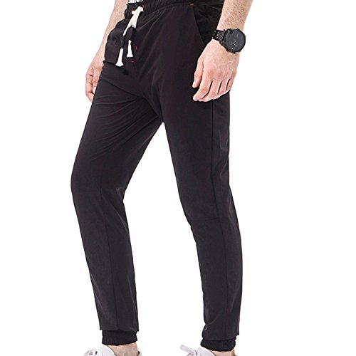 Pantalone Marlboro Tuta Allenamento Da Jeans Pantaloni Lavoro Feixiang Lungo Cargo Uomo Nero OqwxU