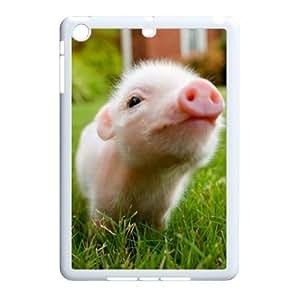 J-LV-F Design Case Little Pig Customized Hard Plastic Case for iPad Mini