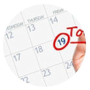 alfombrilla de ratón Primera fecha de recordatorio en el calendario - ronda - 20cm